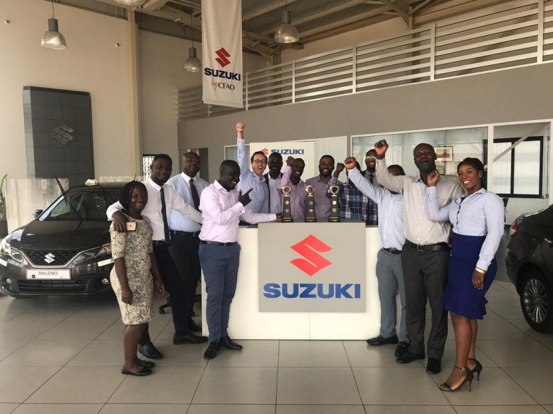 Suzuki by CFAO wins 3 top awards from Suzuki Motor Corporation