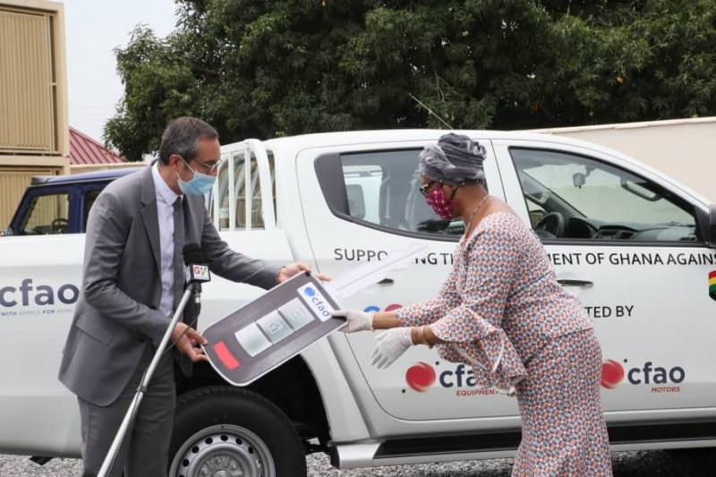 CFAO Group Donates 2 Pickups To Covid 19 National Trust Fund