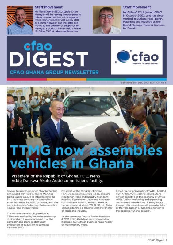 Newsletter - CFAO Digest September 2021