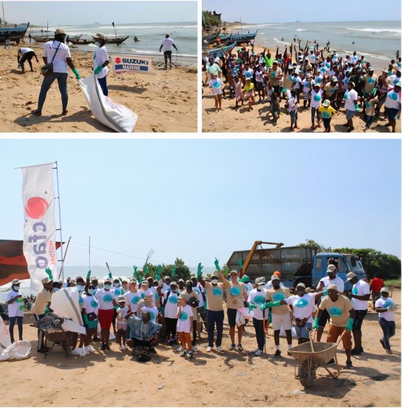 SUZUKI MARINE BY CFAO GHANA CLEANS NUNGUA BEACH IN ACCRA